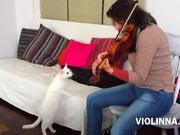 Violinna Vs White Cat