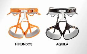 High-end climbing and mountaineering harnesses