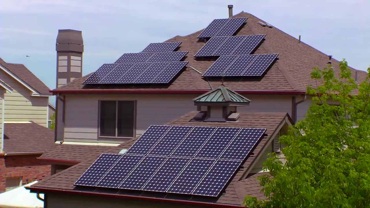 Residential Photovoltaic Solar Panels B Roll Video Watch