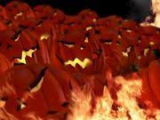 Burning Halloween Pumpkins