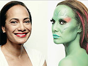 Halloween Makeup How-To: Gina Pell as Gamora