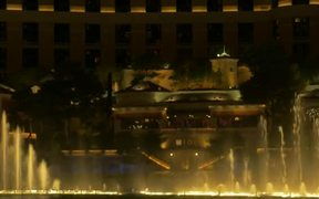 Water Fountain Show at the Bellagio In Las Vegas