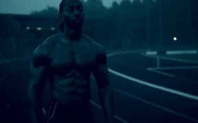 Running Athlete in Slow Motion
