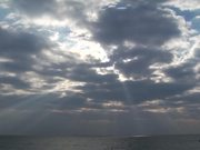 Dramatic Clouds Over the Ocean in Time Lapse