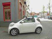 Toyota iQ Commercial: Street View in Belgium