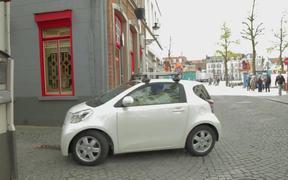 Toyota iQ Commercial: Street View in Belgium