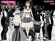 Leena Black & White Dressup