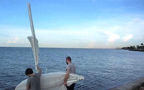 Fleet of Oil Spill Collecting Sailing Robots
