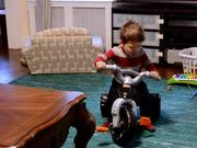 Quentin Tries Out His New Trike