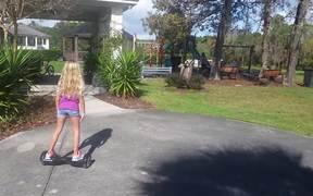 Violet On Hoverboard