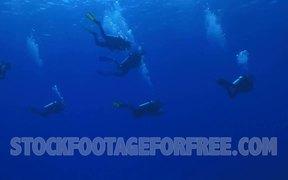 Scuba Divers in Ocean