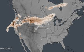 Wildfire Smoke Spread Across the U.S.