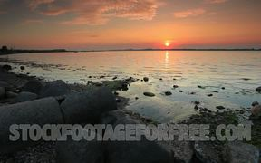 Rocky Beach Calm at Sunset