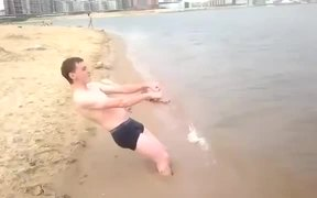 Crazy Russian on the Beach