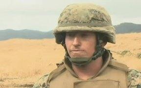 Artillery Marines Train in Japan