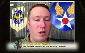 Armed and Apertured SSgt Jonathan Snyder
