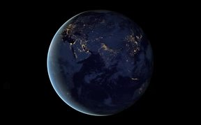 Animation of Rotating Earth at Night